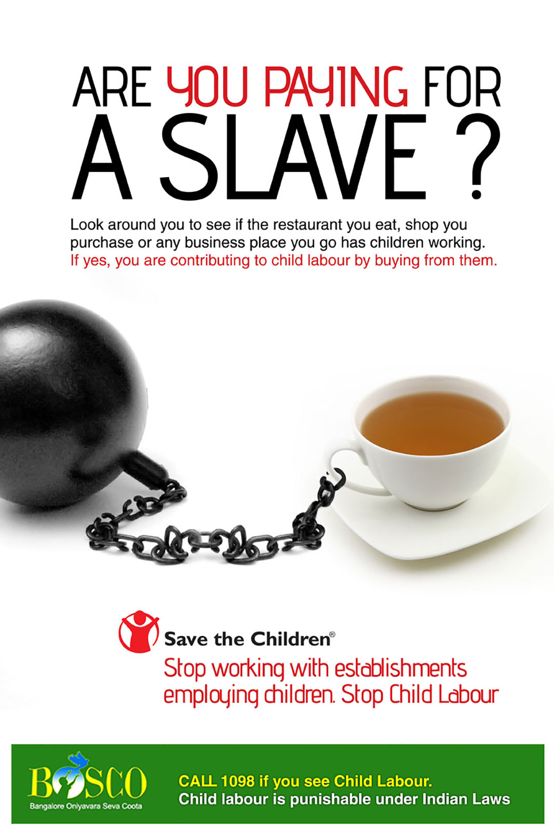 stop child labour poster design
