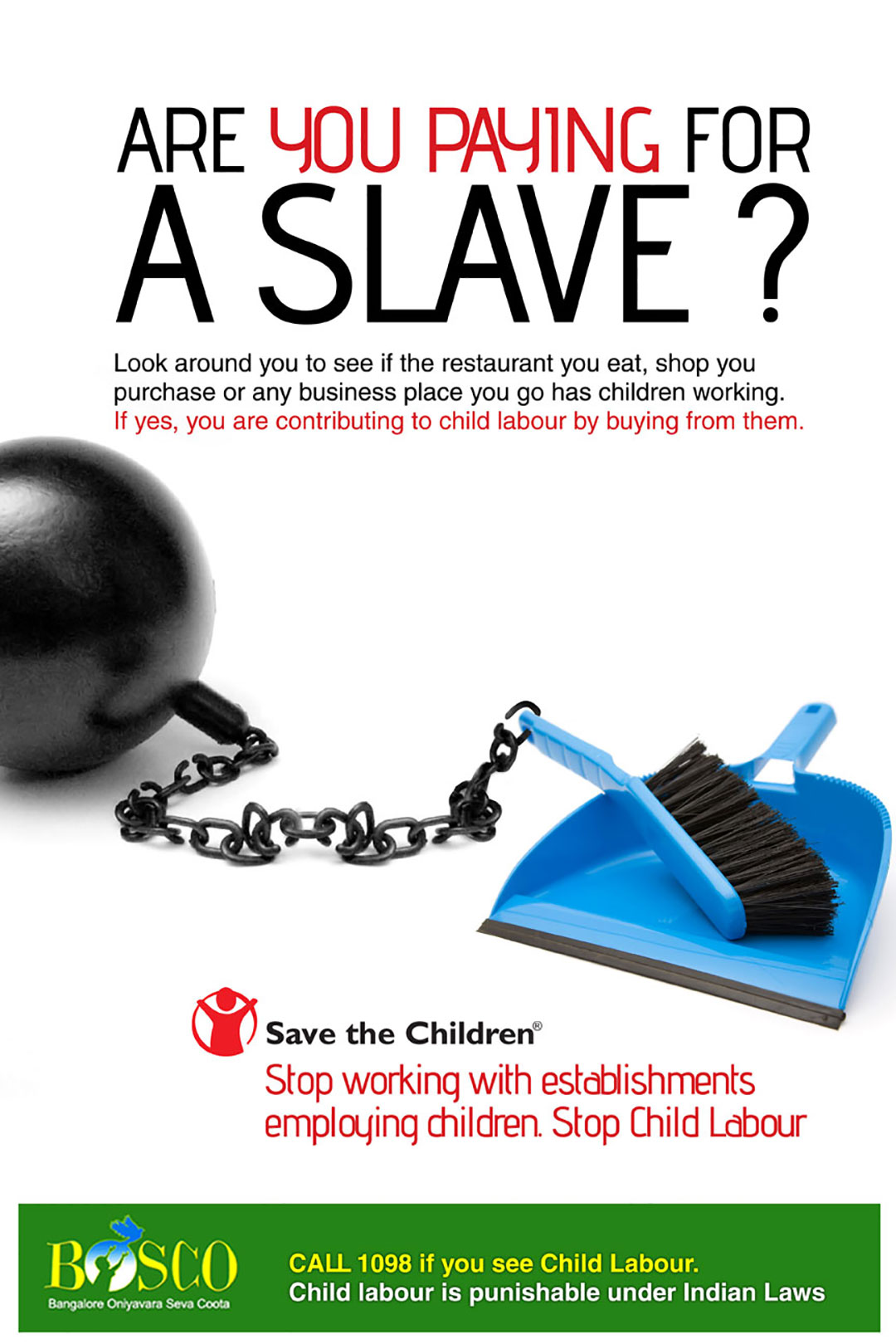 save the children poster design