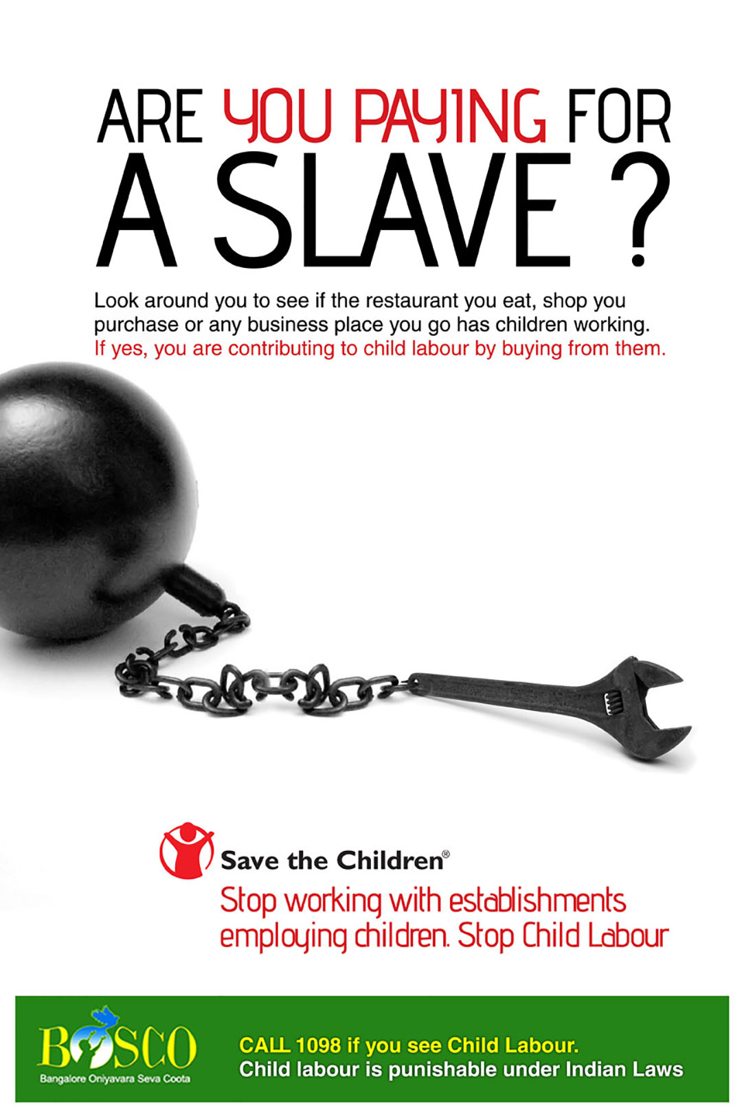 work.com making child labour poster